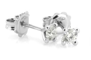 Diamant Ohrstecker Weissgold 4 Krappen