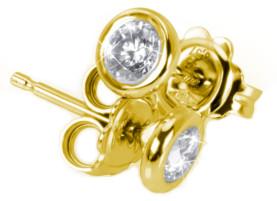 Diamant Ohrstecker Hamburg Gelbgold