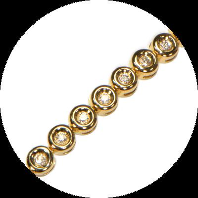Brillantarmband Gelbgold