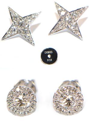 Diamant Ohrstecker Sterne