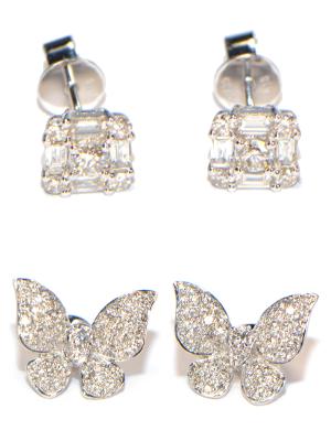 Diamant Ohrstecker Schmetterlinge