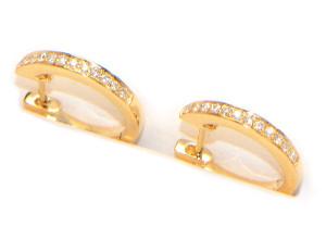 Diamant Creolen Gelbgold