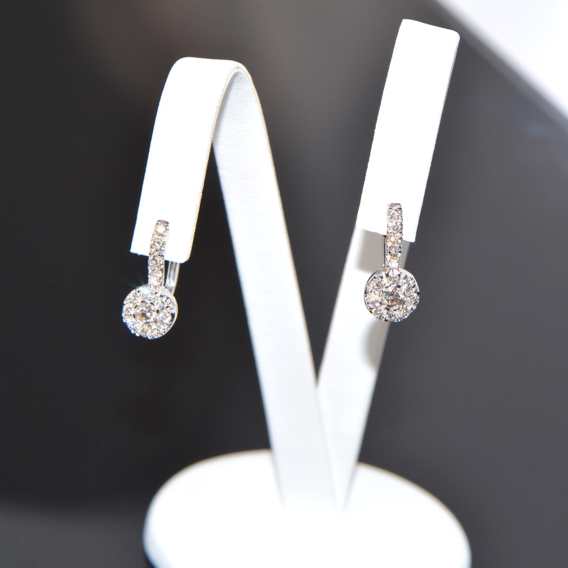 Diamant Creolen Weissgold