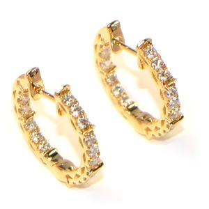 Diamant Creolen in Gelbgold