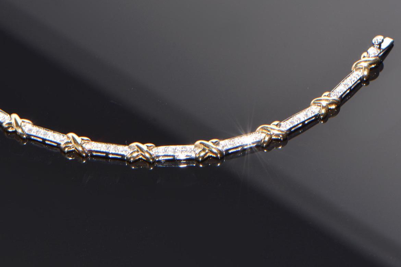 Diamant Armband bicolor