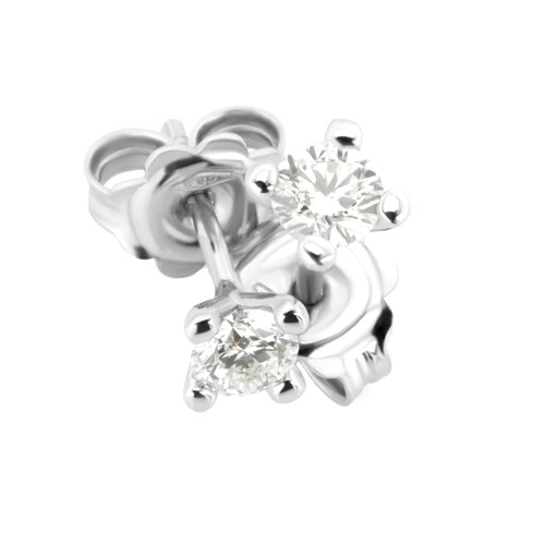 Weissgold Diamant Ohrstecker