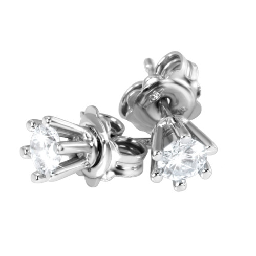 Diamant Ohrstecker Weissgold 6 Krappen
