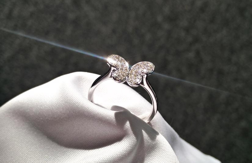 Schmetterling Diamant Ring