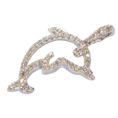 Diamant Delfin Weissgold