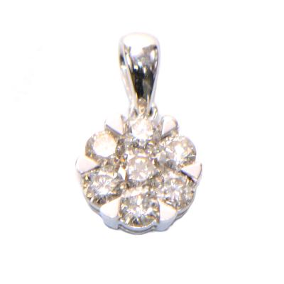 Diamant Anhänger Blüte rund