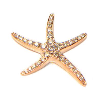 Diamant Anhänger Seestern Rosegold