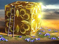 Würfel aus Gold Kantenlänge