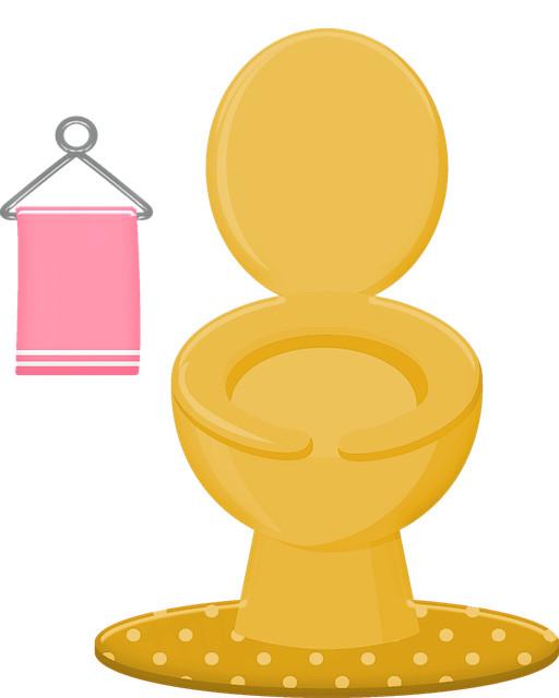 Goldenes WC Toilette
