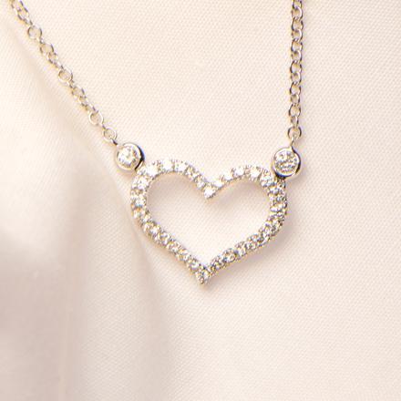 Herz Anhänger Diamanten