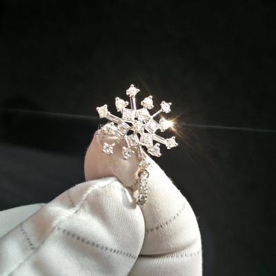 Schneeflocke Diamant Anhänger