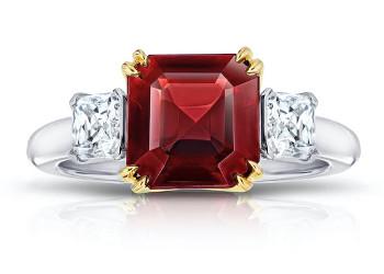 Asscher Schliff Cut Diamantring 350
