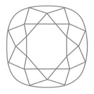 Cushion Cut Kissen Schliff Diamant Form
