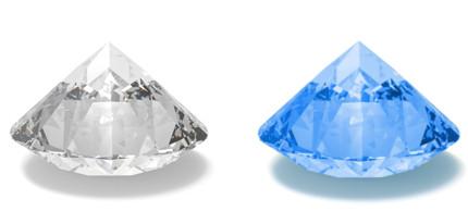 Diamant Fluoreszenz keine sehr stark