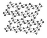 Diamant Struktur vierdimensional