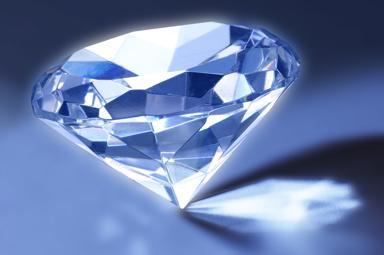 Diamant bläulich blauweiss
