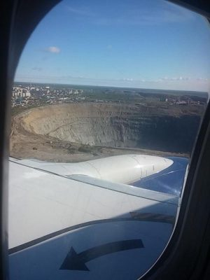 Diamantmine Mir Blick aus dem Flugzeug1