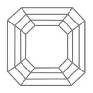 Diamantschliff Asscher Cut