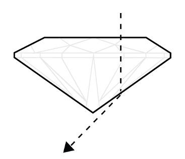 Diamantschliff zu flach