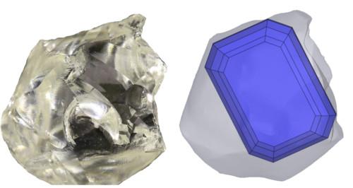 Emerald Cut Smaragdschliff Rohdiamant