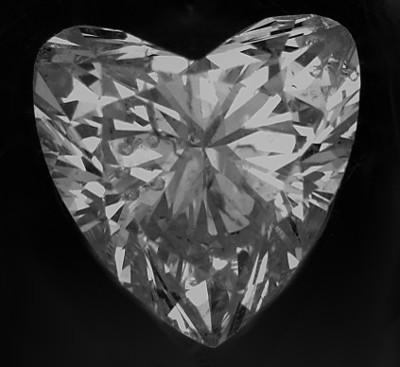 Herz Diamant unförmig