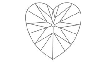 Herz Schliff Unterteil
