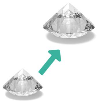 Mehr diamant für ihr geld