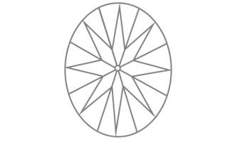 Oval Schliff Unterteil