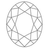 Ovale Diamantform