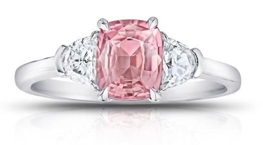Radiant Cut Schliff Ring pink