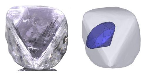 Rohdiamanten Diamantschliff Brillantschliff