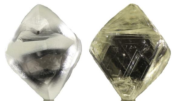 Rohdiamanten gelb und weiss