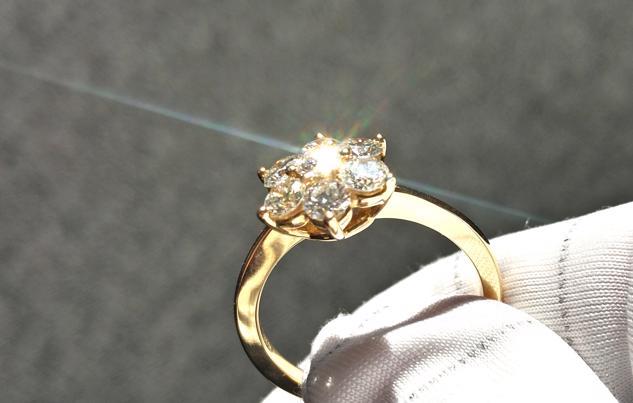Schliff Brillanz Feuer Ring