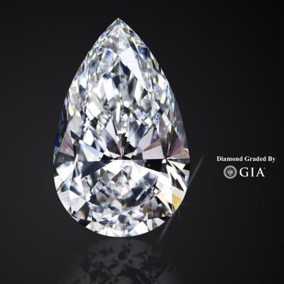 Tropfen Form Diamant Pear Cut