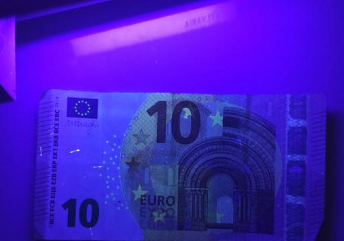 UV Licht Geld Prüfung Fluoreszenz