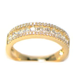 diamantring-memory gelbgold eternity