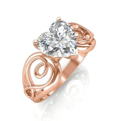 heart diamond herz diamant ring rosegold 1
