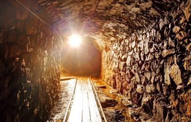 Untertagebau Diamantmine