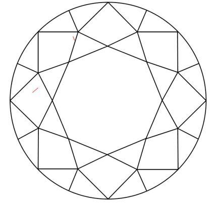 10 Karat Diamant Skizze