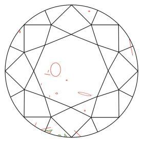 Diamant Zertifikat Skizze
