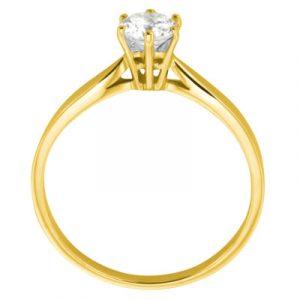 Diamantring Antwerpen Gelbgold