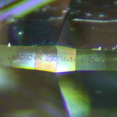 Labordiamant IGI Zertifikat Gravur