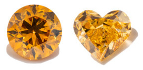 Orange Farbdiamanten