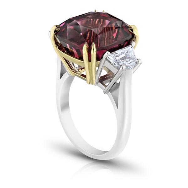 Spinel Ring Rot Diamantring