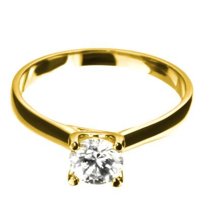 Verlobungsring Florenz Gelbgold
