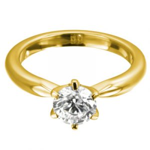 Verlobungsring New York Gelbgold